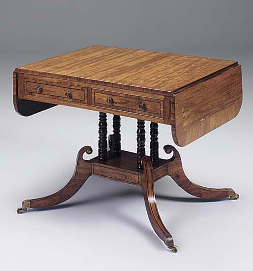 A REGENCY KINGWOOD AND INLAID