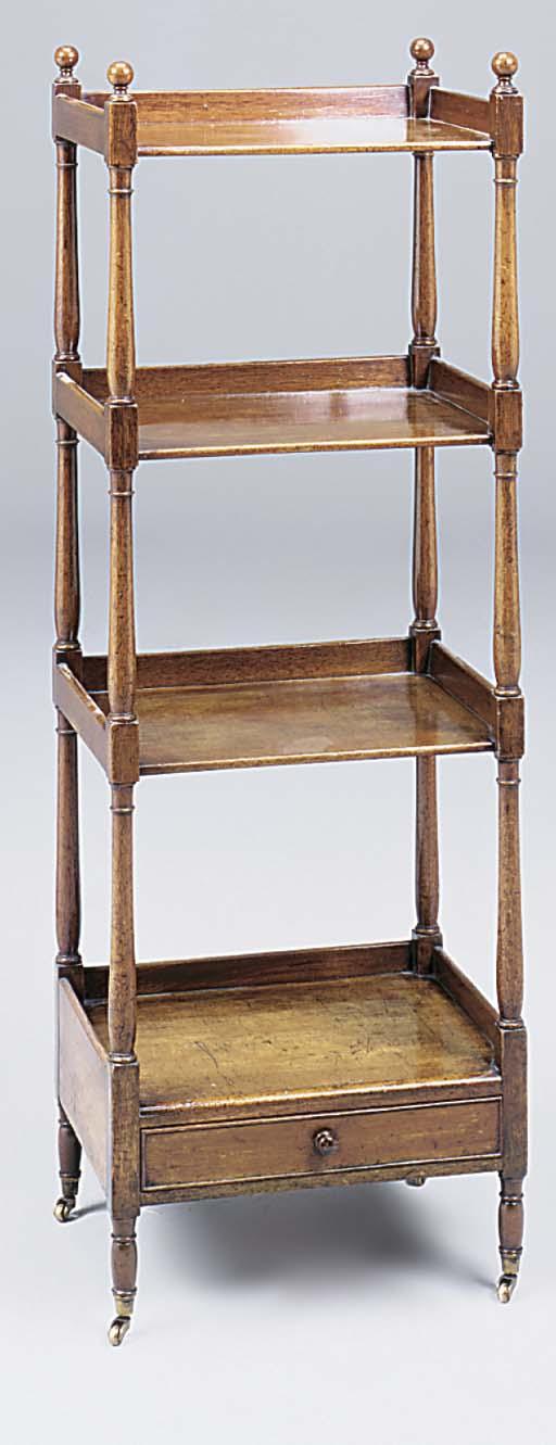 A George IV mahogany four tier
