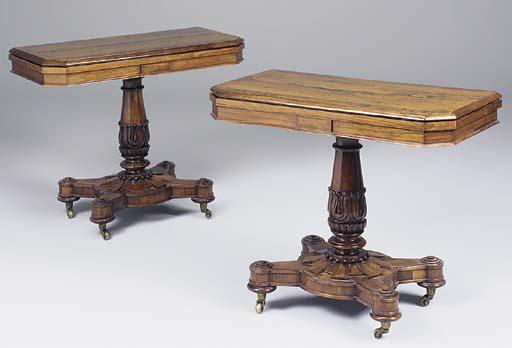 A pair of William IV rosewood