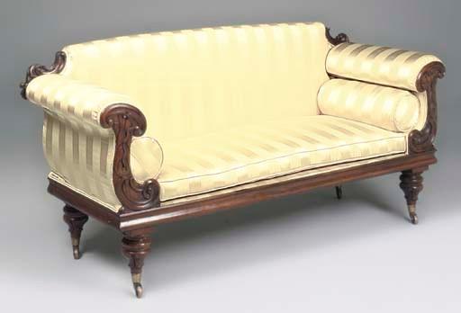 A William IV rosewood sofa