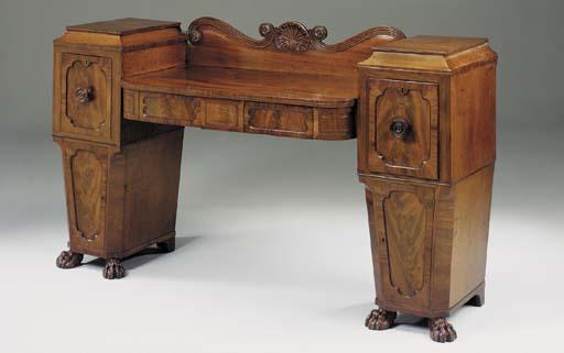 A Regency mahogany inlaid and