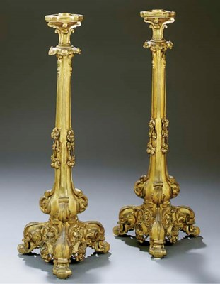 A pair of Victorian brass tabl