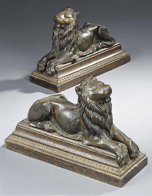A pair of late Victorian bronz