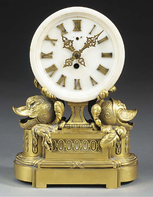 An American marble and gilt br