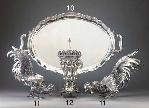 A German Silver Two-Handled Tr