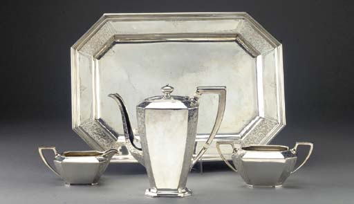 A Three-Piece American Silver