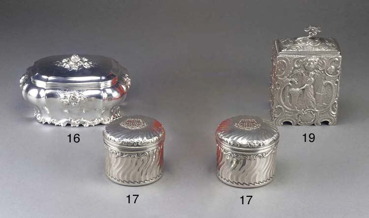 A Dutch Silver Sugar Box