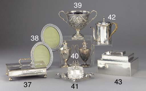 A Victorian Silver Smoker's Co