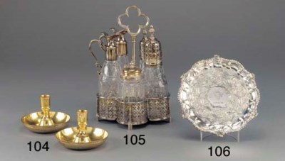 A George III Silver Cruet Fram