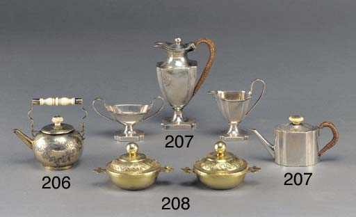 A George I Silver-Gilt Toy Tea