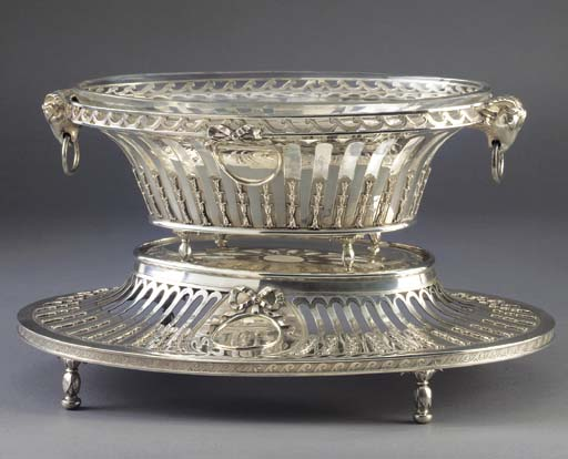 A George III Silver Basket-on-