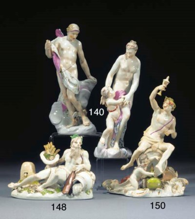 A Meissen group of Bacchus and