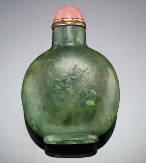 A WELL-HOLLOWED SPINACH JADE S