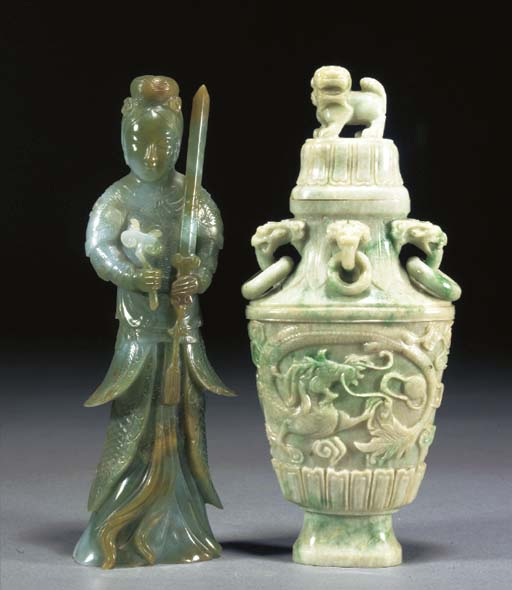 A CHINESE JADEITE MODEL OF A D