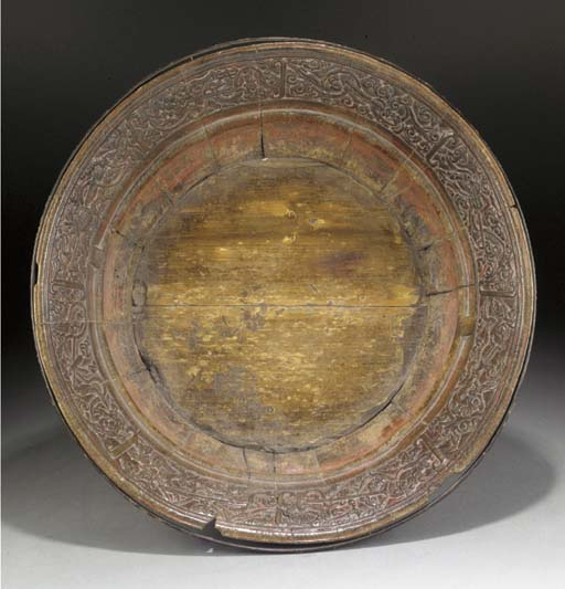 A CHINESE LARGE LACQUERED WOODEN BOWL 16TH/17TH CENTURY