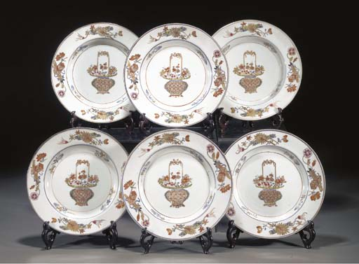 TEN CHINESE EXPORT PLATES QIAN