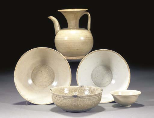 TWO YINGQING POTTERY BOWLS SON