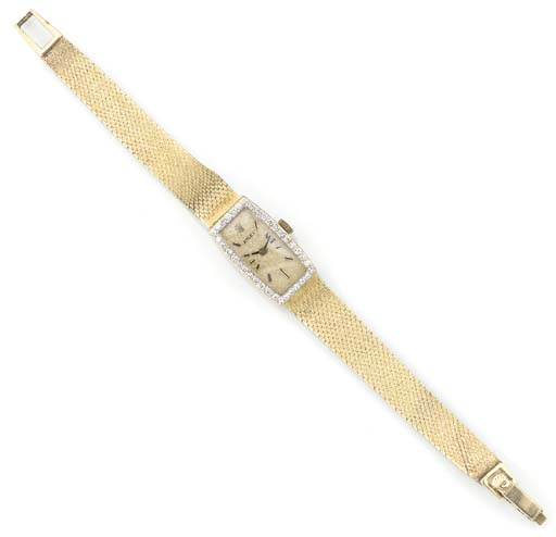 ROLEX, A LADY'S 14ct. GOLD REC