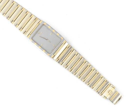 OMEGA, AN 18ct. YELLOW AND WHI
