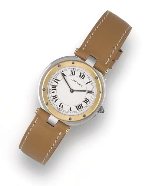 CARTIER, A STAINLESS STEEL AND