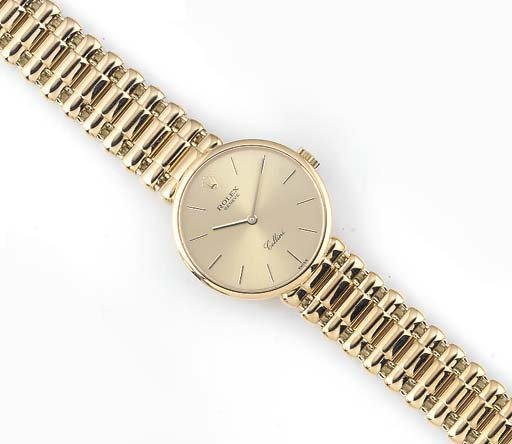 ROLEX, A LADY'S 18ct. GOLD WRI