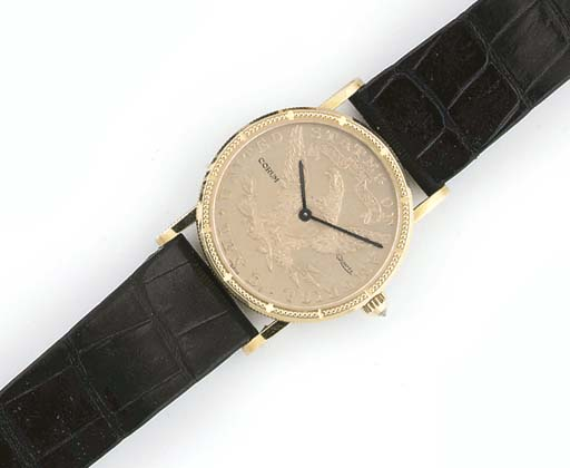 CORUM, AN 18ct. GOLD MID-SIZE