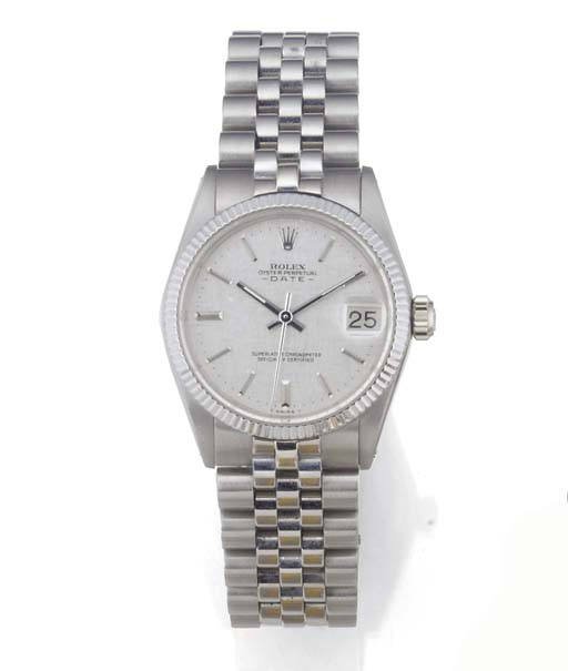 ROLEX, AN 18ct. WHITE GOLD MID