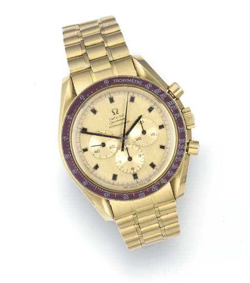 OMEGA, A RARE 18ct. GOLD LIMIT