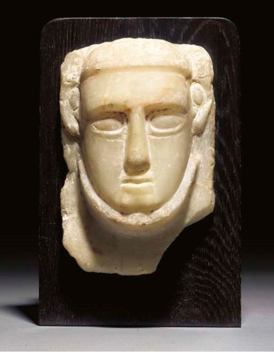 A SOUTH ARABIAN ALABASTER RELI