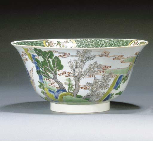 A famille verte deep bowl Chen