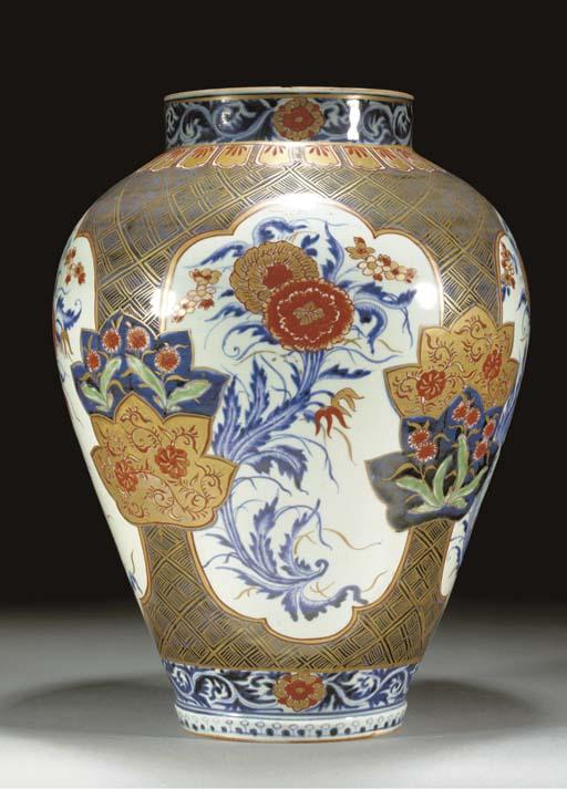 An Arita baluster jar Circa 17