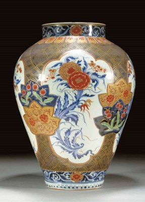 An Arita baluster jar Circa 17