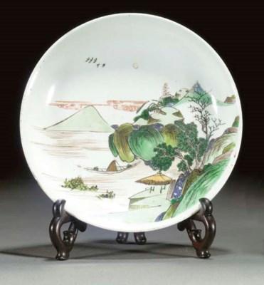 A famille verte dish Kangxi