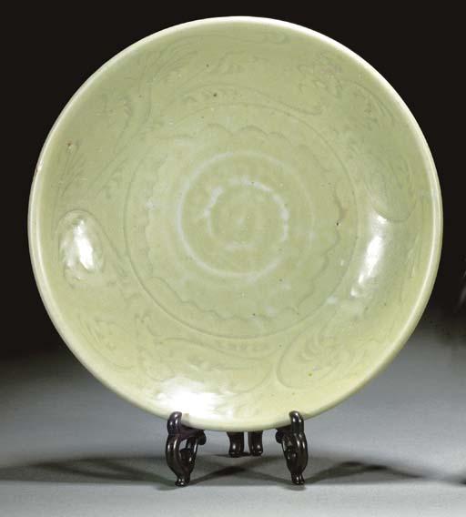 A Chinese celadon glazed dish