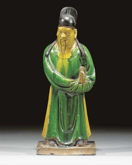 A Chinese sancai glazed potter