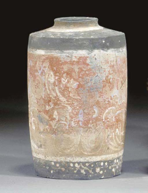 A Chinese grey painted pottery