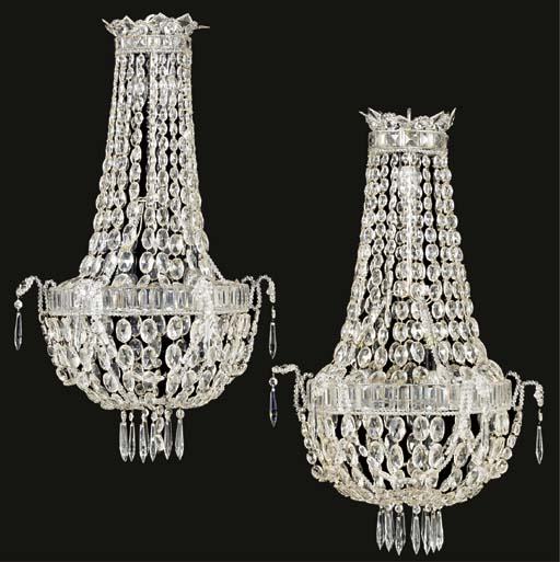 A pair of Continental glass ch