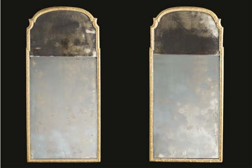 A pair of gilt and gesso pier