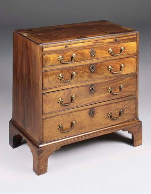 A GEORGE III MAHOGANY CHEST OF
