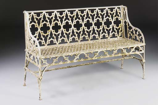 A French cast iron seat