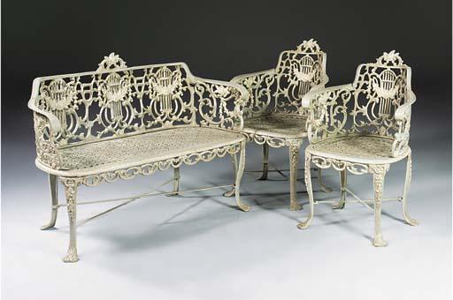 A suite cast iron furniture