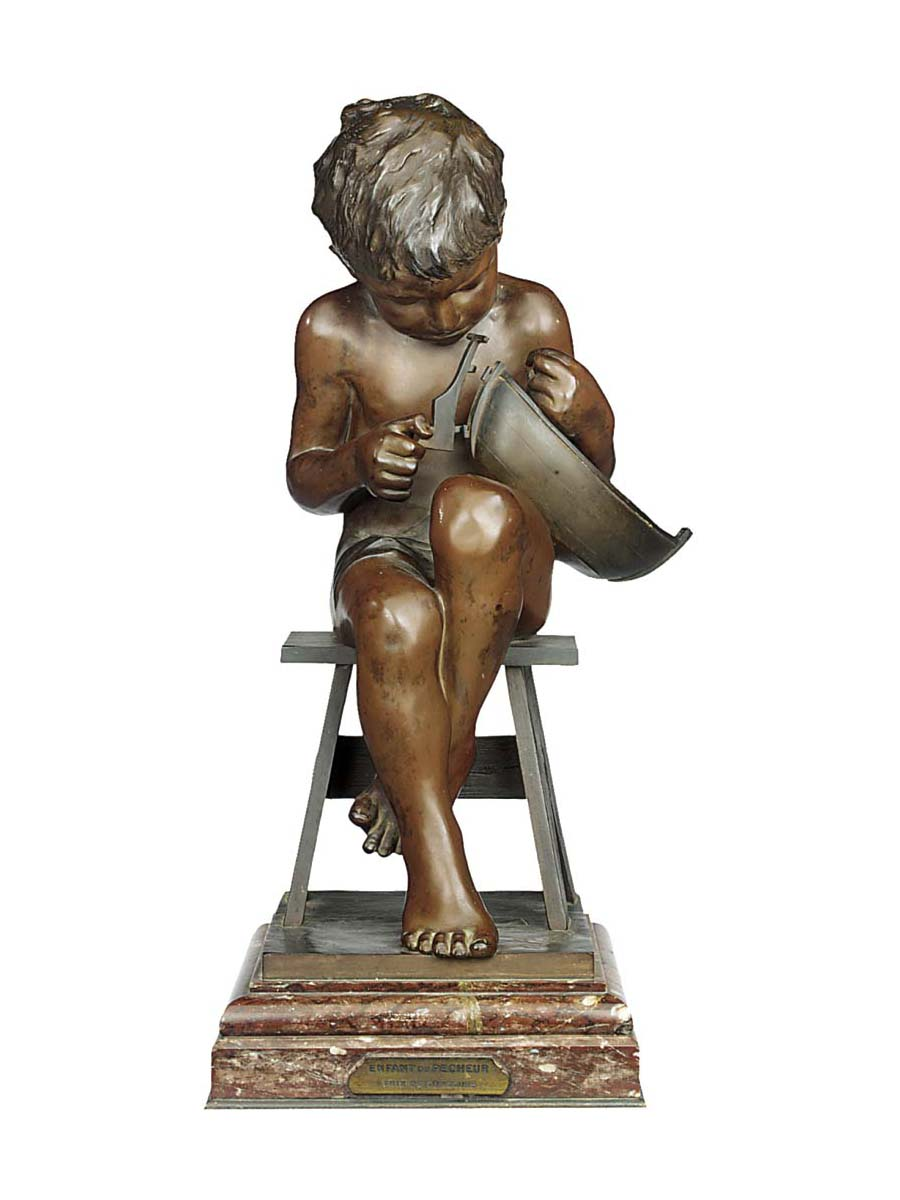 A French bronze figure of a yo