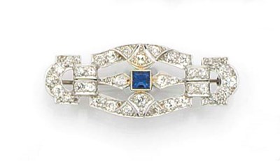 An Art Deco platinum and gold,