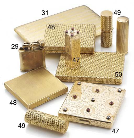 A Dunhill 9ct. gold pocket cig