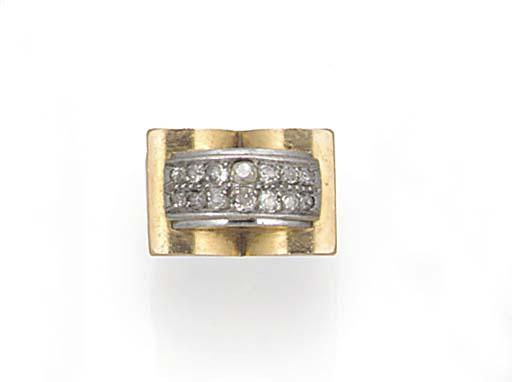 A 1940's diamond cocktail ring