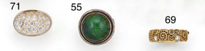 A Georg Jensen silver and gree