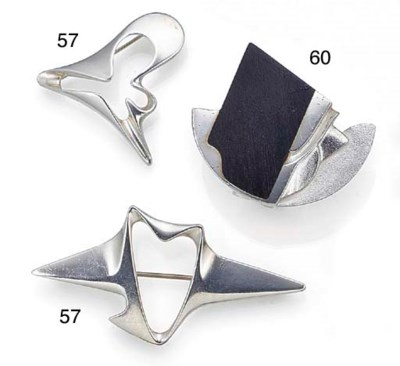 Two Georg Jensen silver brooch