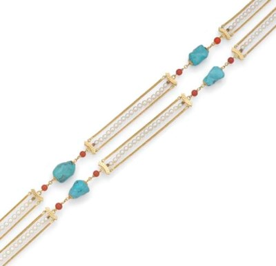 A turquoise, coral and culture
