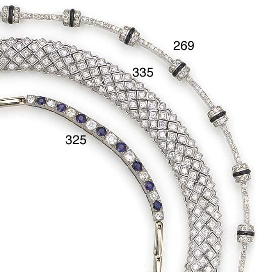 A diamond and onyx bracelet,