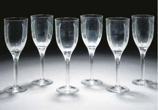 Six Post-War glasses